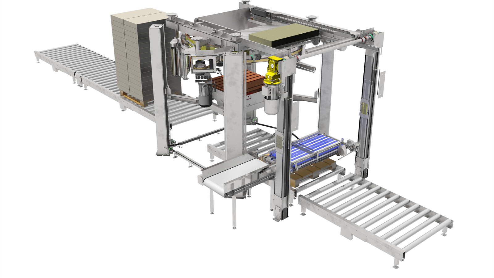 Onboard compact palletizer